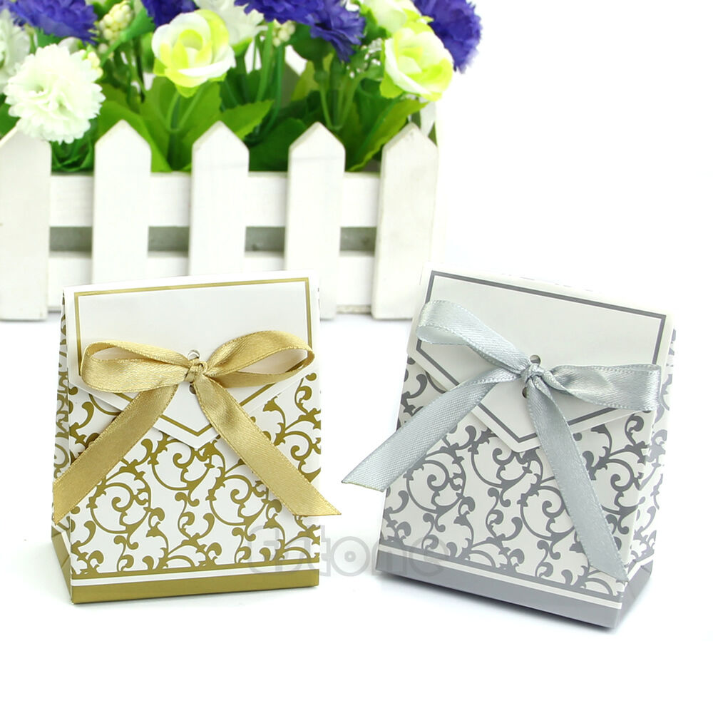 50pcs lovely wedding engagement anniversary party cake favour favor gift boxes ebay. Black Bedroom Furniture Sets. Home Design Ideas