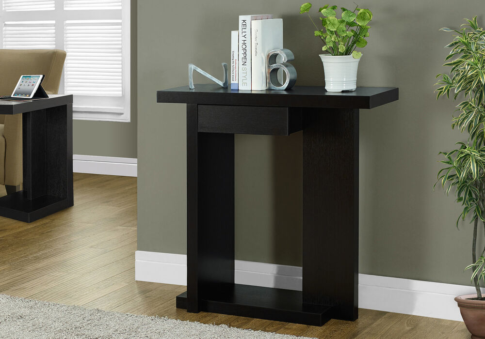 Monarch cappuccino 32 l hall console accent table i 2458 for 12 x 12 accent table