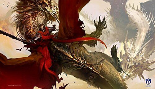 Max Pro Play Mat Crimson Rider Playmat Dragon Art For