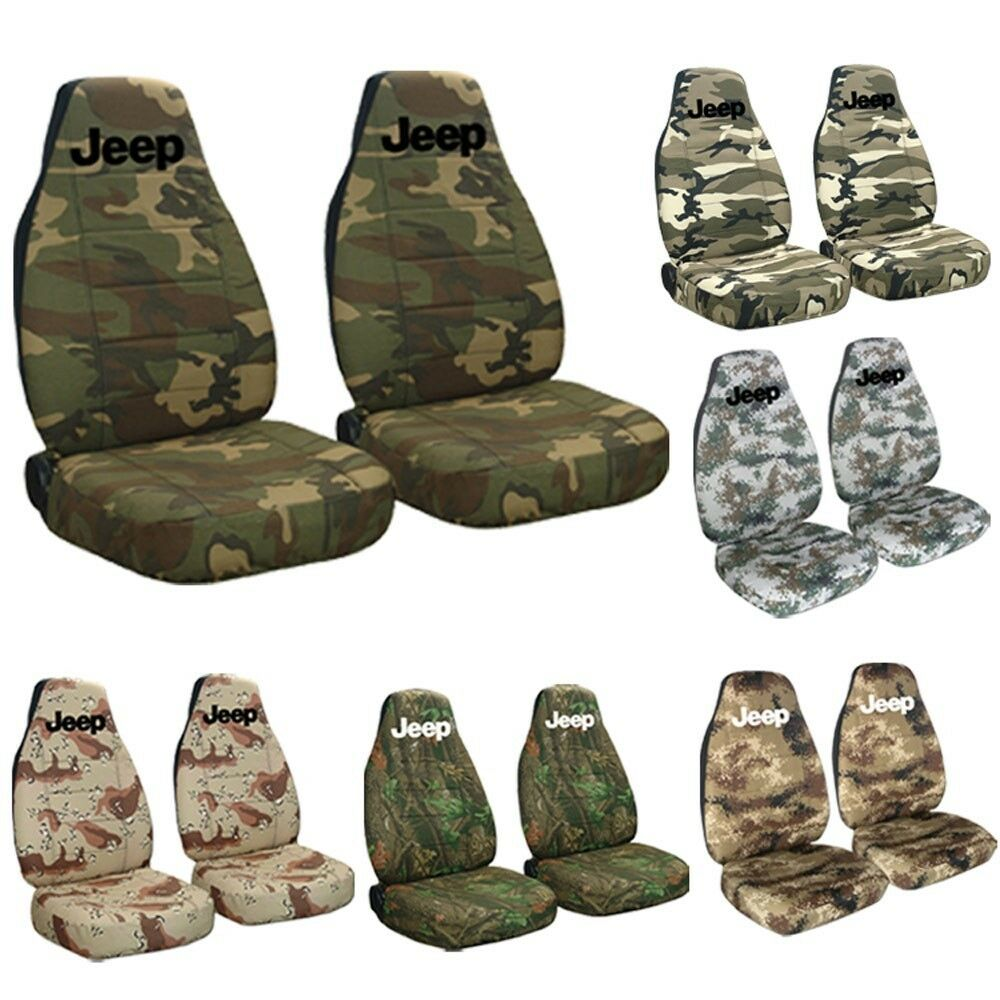 1987 2002 Jeep Wrangler Camouflage Seat Covers With Design