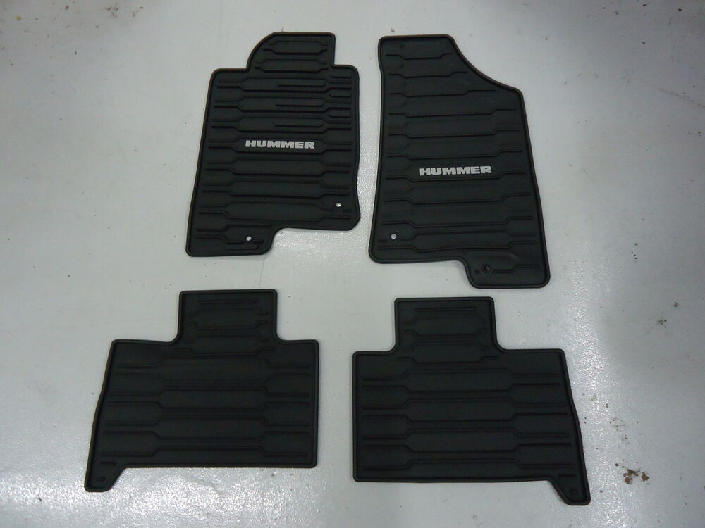 06 10 Hummer H3 Floor Mats All Weather Ebony Front
