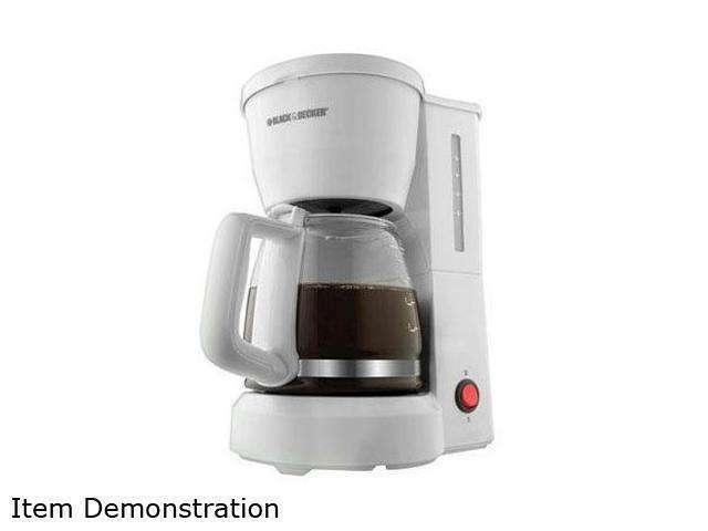 Black Decker DCM600W White 5 Cup Drip Coffee Maker with Glass Carafe 050875533523 eBay