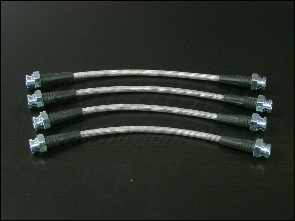 Ss Braided Brake Lines : Techna fit stainless steel braided brake lines for