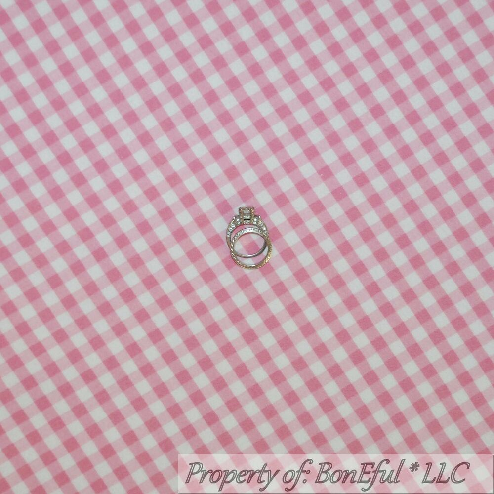 Boneful fabric fq cotton quilt flannel pink white baby for Baby girl fabric