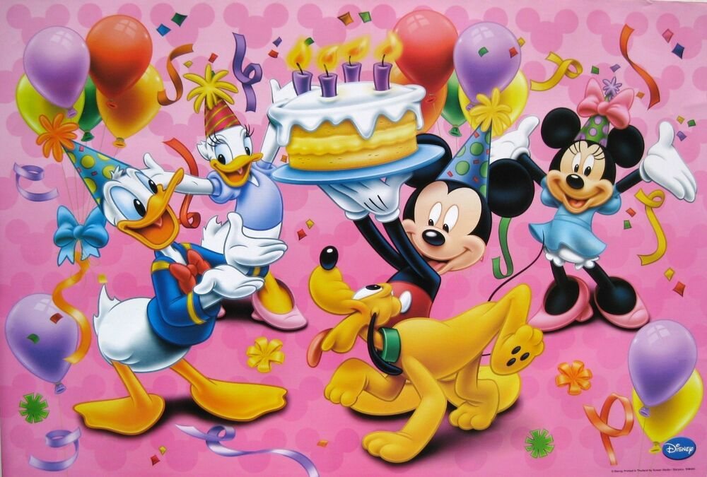 Minnie Mouse Holding Birthday Cake