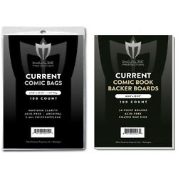 Kyпить 100 Premium Current / Modern Comic Book Bags and Boards / Sleeves Max Archival на еВаy.соm