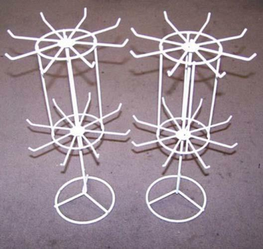 SPINNING JEWELRY DISPLAY RACK 16 IN WHITE counter racks