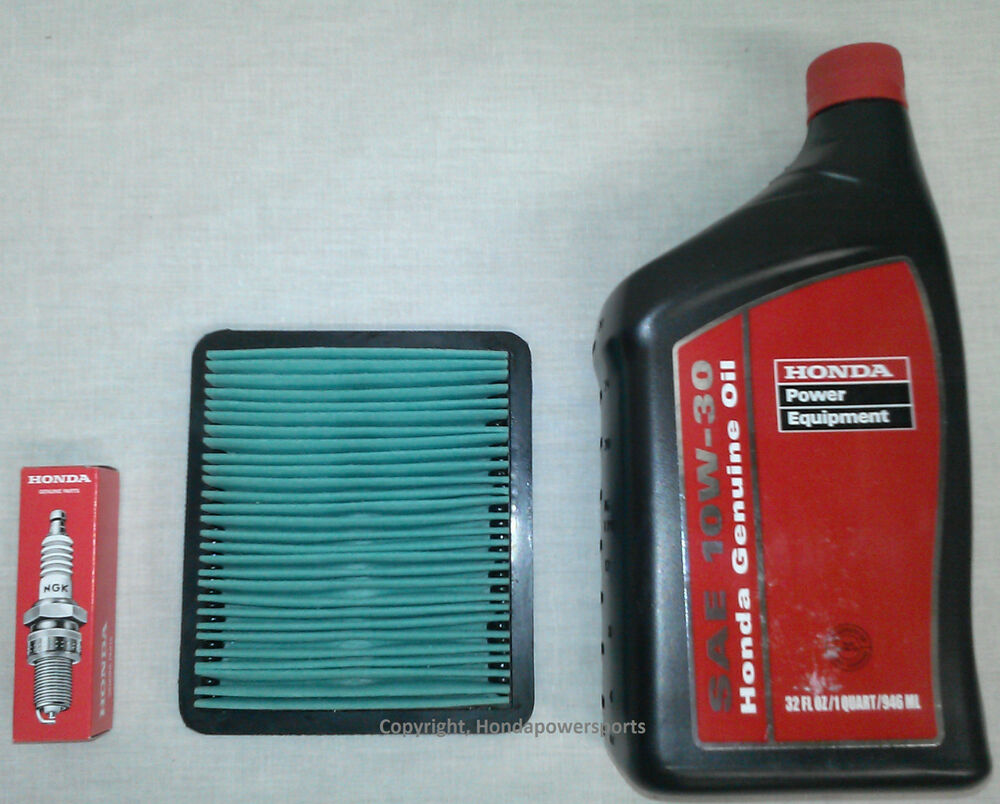 Honda EU3000 Oil Change Service Kit Filter Spark Plug Air Generator EU3000is | eBay
