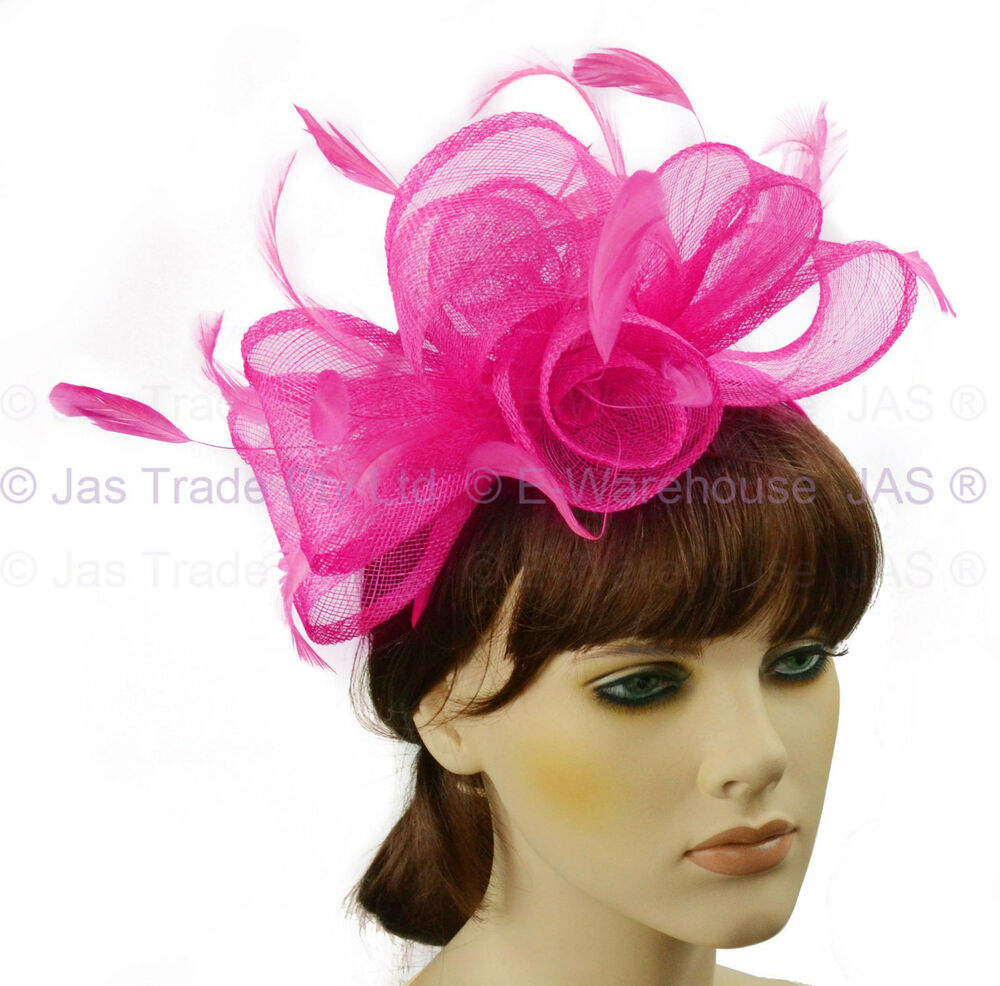 Details about Melbourne Cup Spring Race Racing Carnival Wedding Fascinator  Headband Hot Pink defc7788c6e