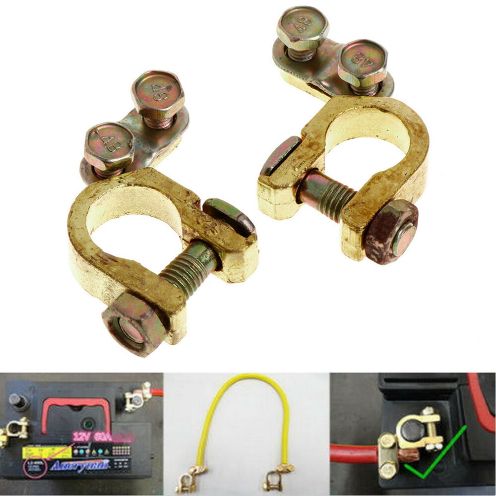 Automotive Battery Cables And Connectors : New pcs replacement auto car battery terminal clamp clips