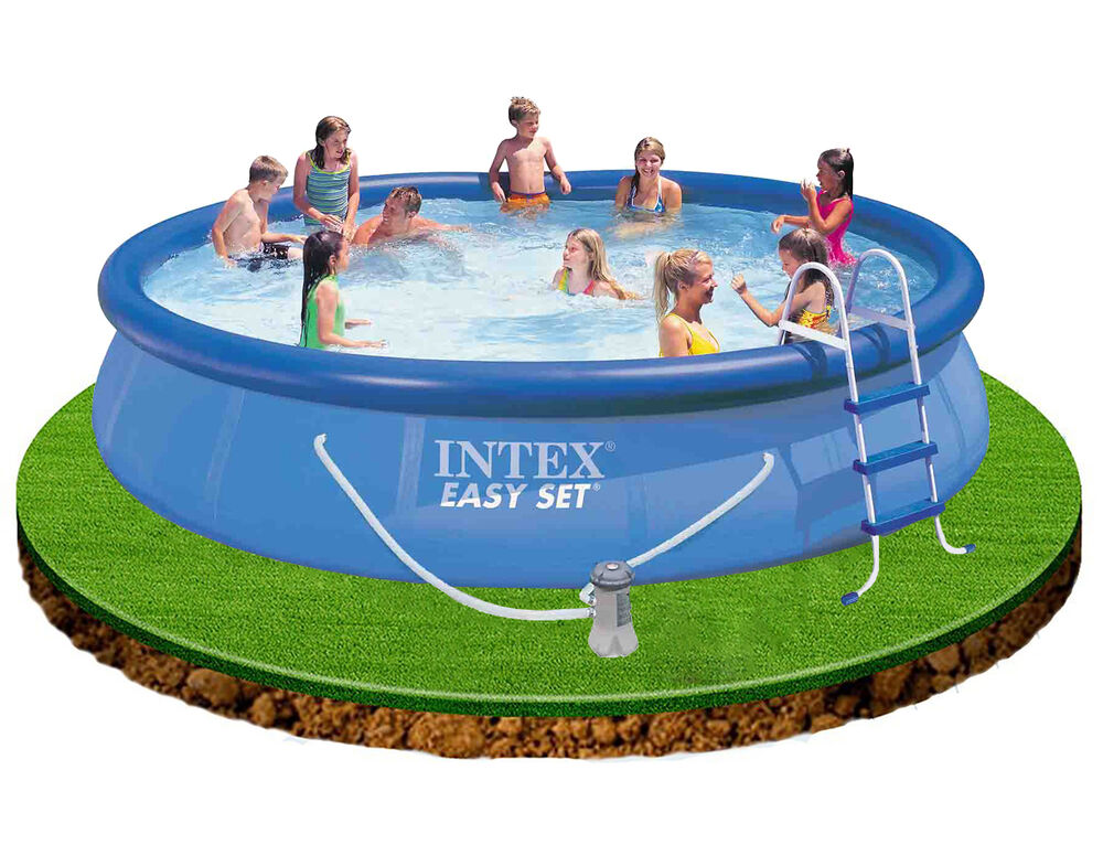 Intex easy set up 15 ft x 36 in swimming pool filter pump cover ground cloth ebay Intex inflatable swimming pool