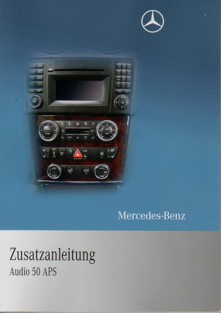 mercedes audio 50 aps betriebsanleitung 171 2010 bedienungsanleitung rn ebay. Black Bedroom Furniture Sets. Home Design Ideas