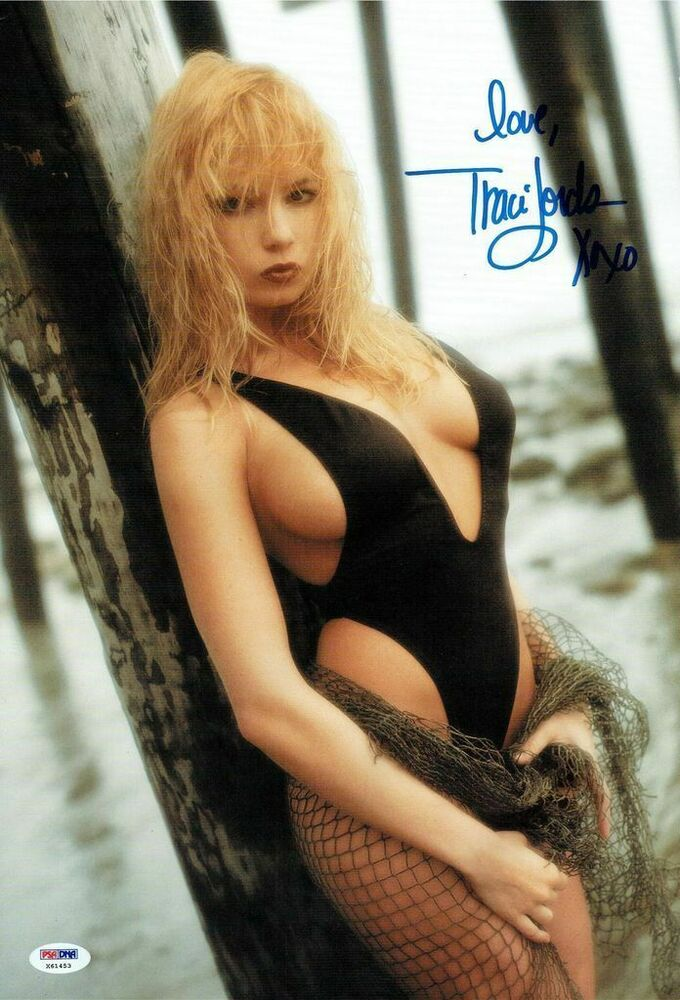 Traci Lords Signed Sexy Calendar Shoot Autographed 11X17 -6754