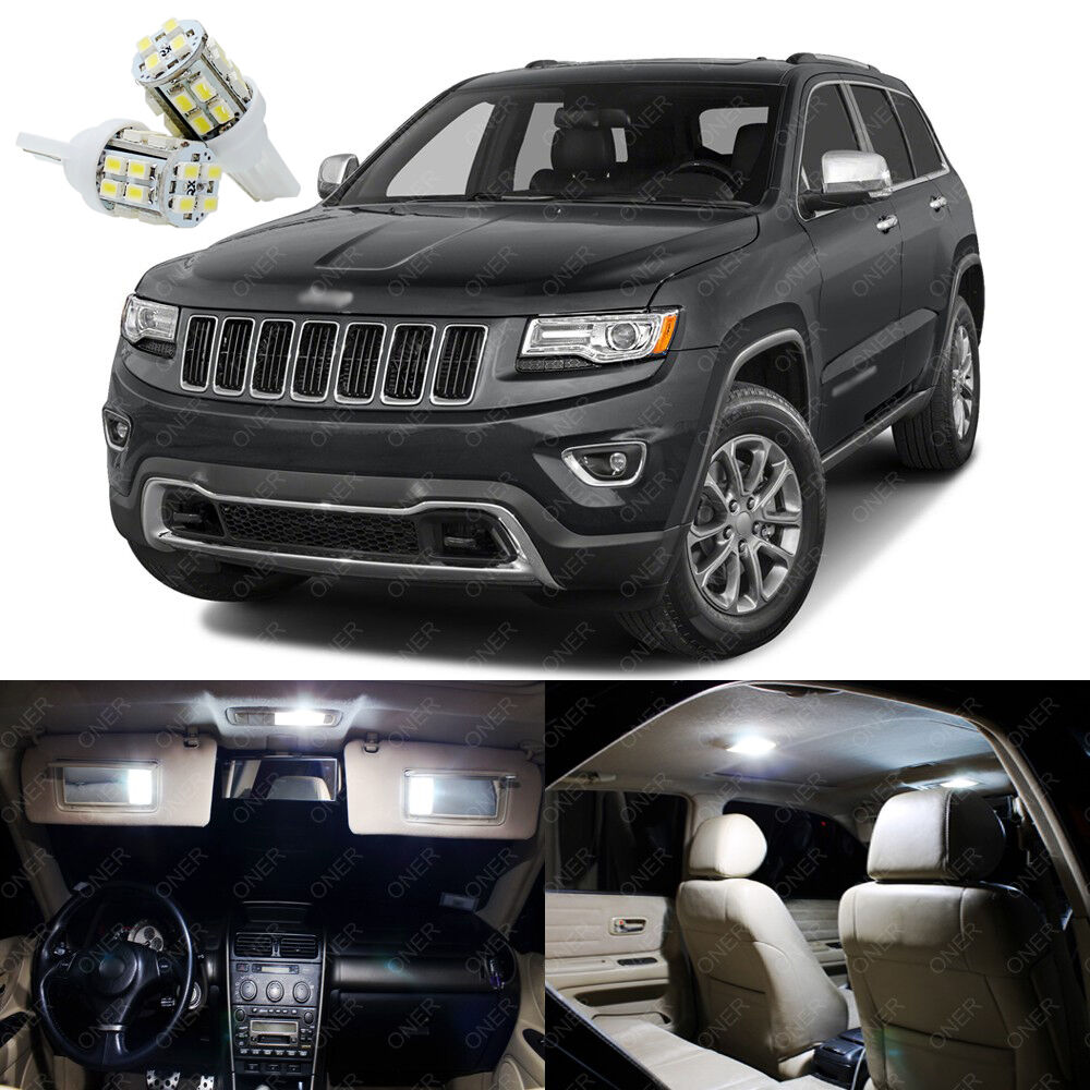 17 x xenon white led interior lights package for jeep grand cherokee 2011 2017 ebay for 2011 grand cherokee interior