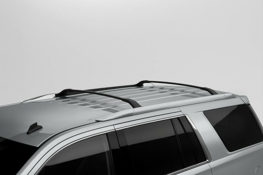 15 17 Gmc Yukon Xl Roof Rack Cross Rails Bars Black 2pcs