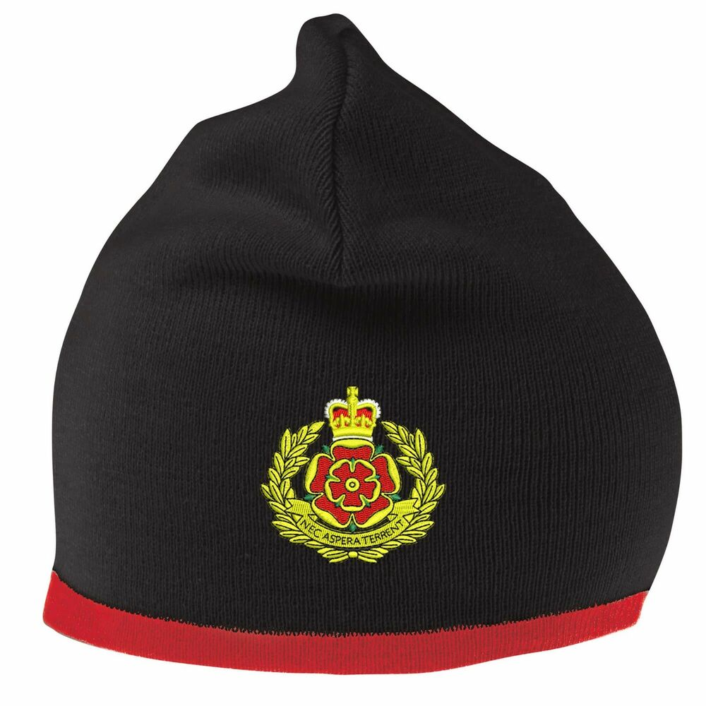 Details about Duke of Lancaster Beanie Hat with Embroidered Logo 65fe11d838a