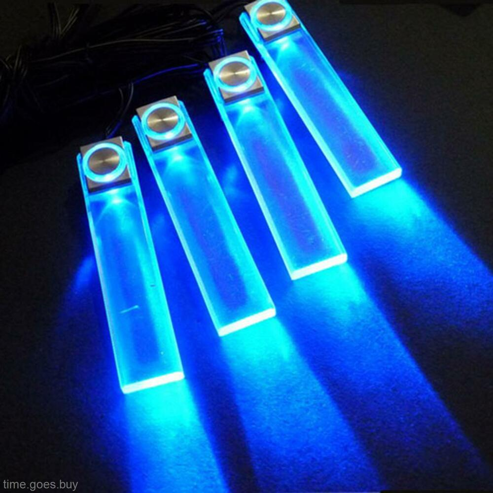 led 12v 4 in1 decorative auto car truck decor interior atmospher lamp light blue ebay. Black Bedroom Furniture Sets. Home Design Ideas