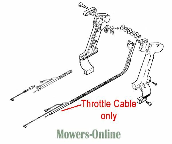 Stihl Throttle Cable Backpack Blower 4203 180 1111 BR320 BR340 BR380 ...