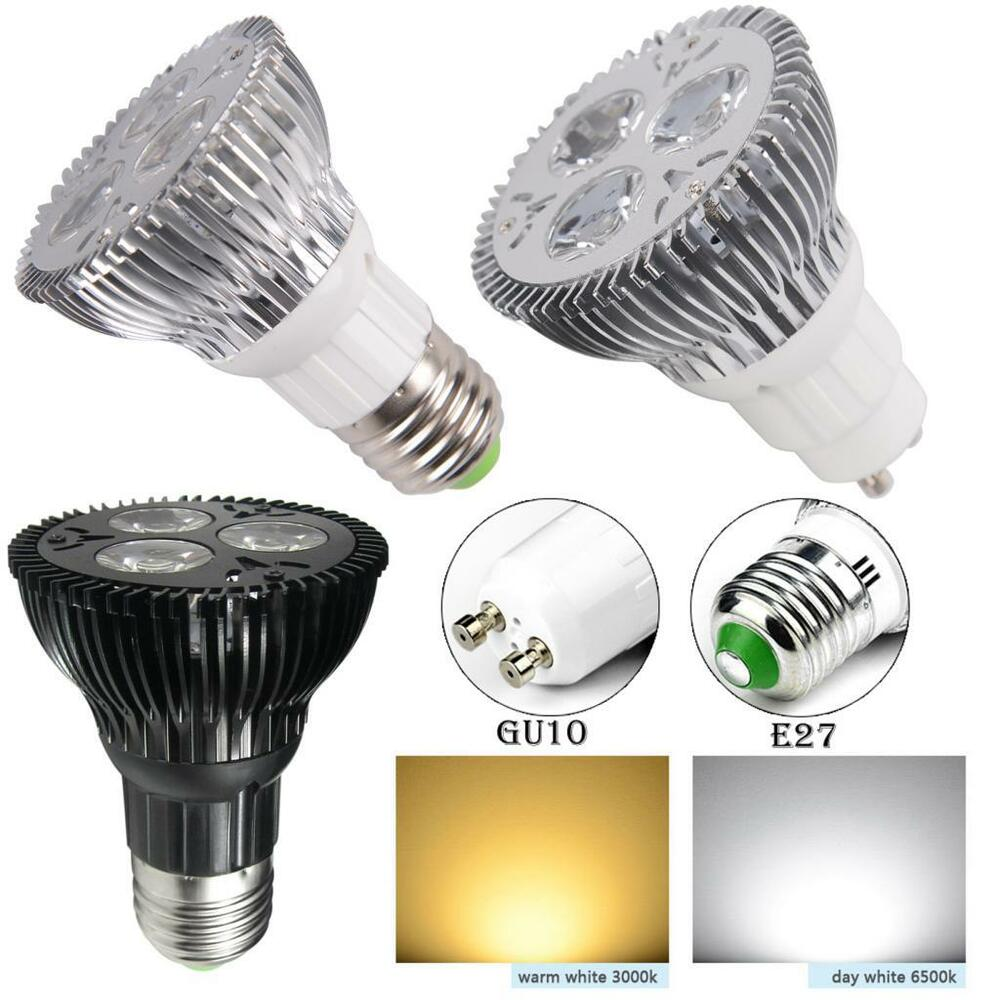 Led Spotlight Light Bulbs: 9w LED PAR20 Bright Spotlight Bulb Medium E27 Base Energy