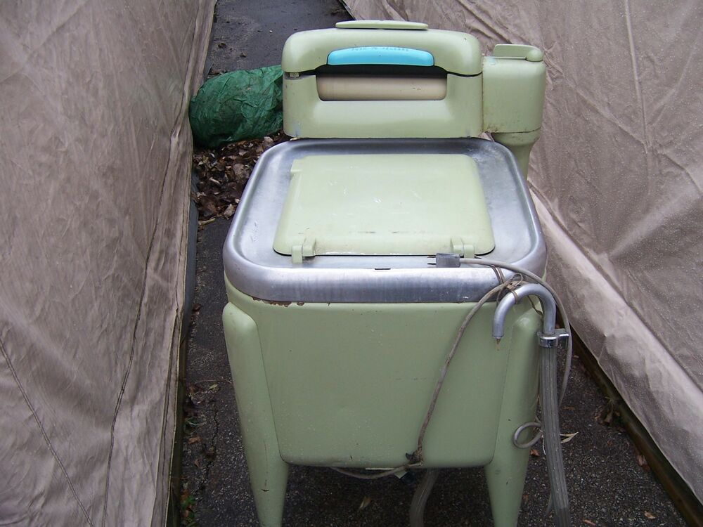 Maytag E2ls Very Rare Green Vintage Wringer Washer Washing