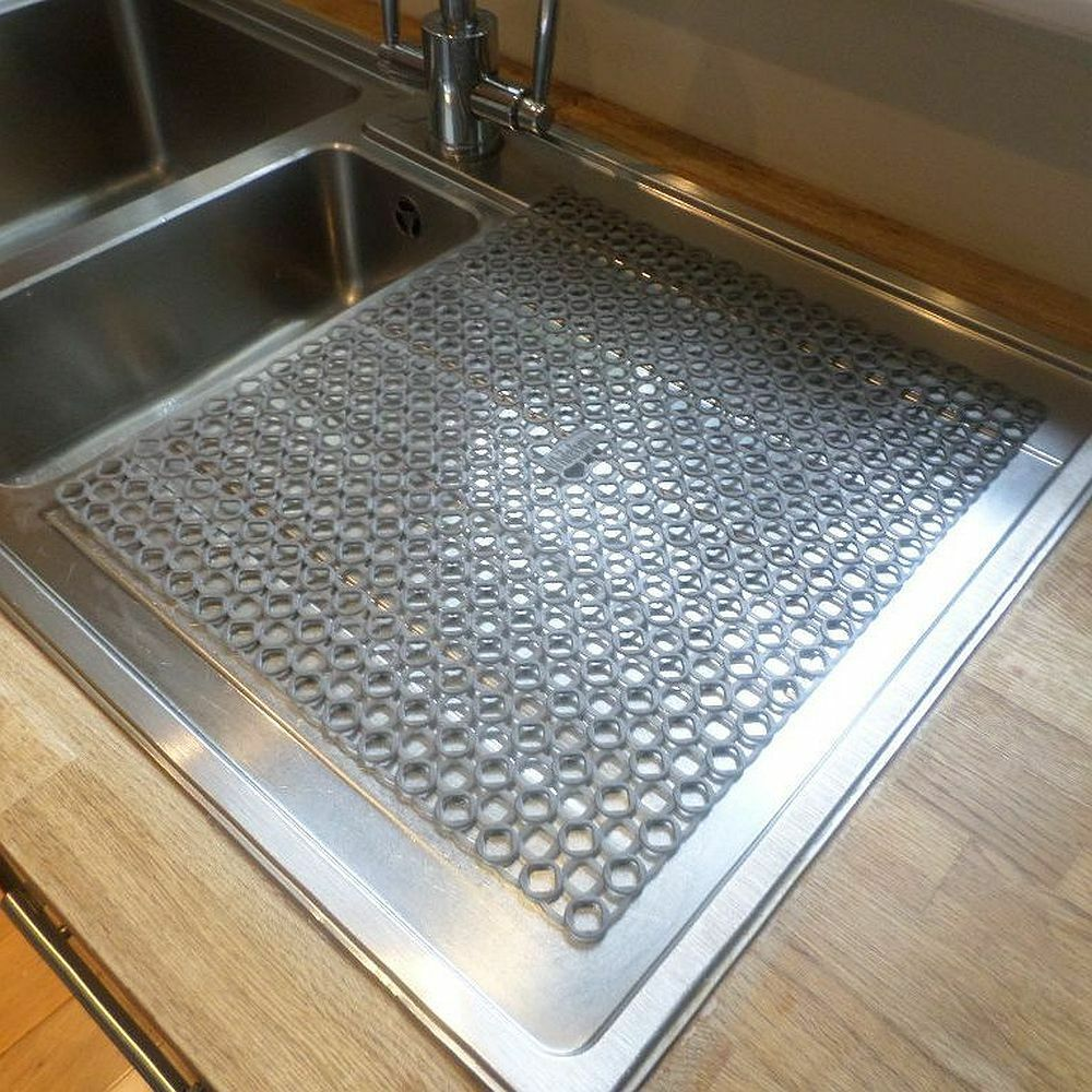 sink or kitchen worktop washing up glasses cup mug drainer draining mat ebay. Black Bedroom Furniture Sets. Home Design Ideas