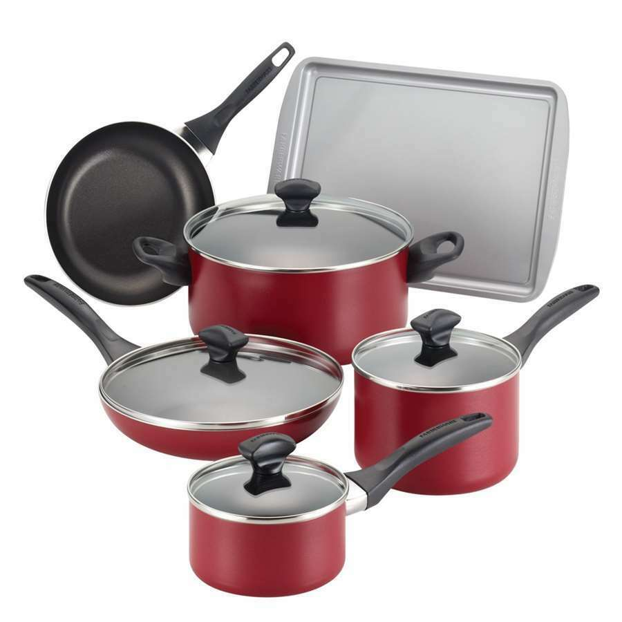 Farberware Dishwasher Safe Nonstick 15-Piece Cookware Set ...