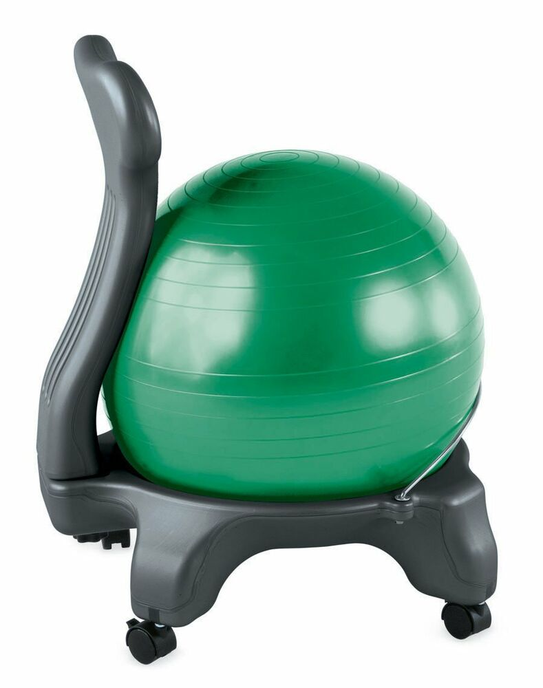 gaiam balance ball chair body balance gym exercise fitness. Black Bedroom Furniture Sets. Home Design Ideas