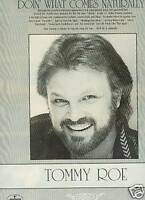 TOMMY ROE Does It Naturally 1987 PROMO PHOTO POSTER AD