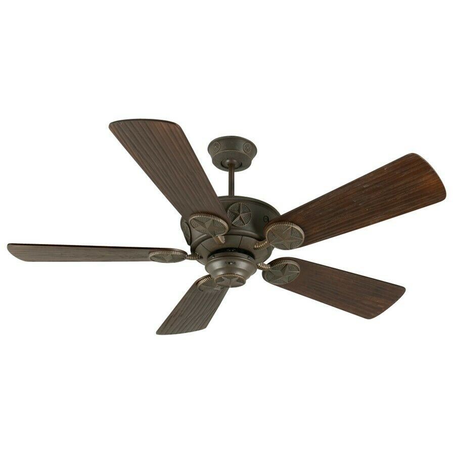 "Craftmade Ceiling Fan Aged Bronze Chaparral w 54"" Blades"