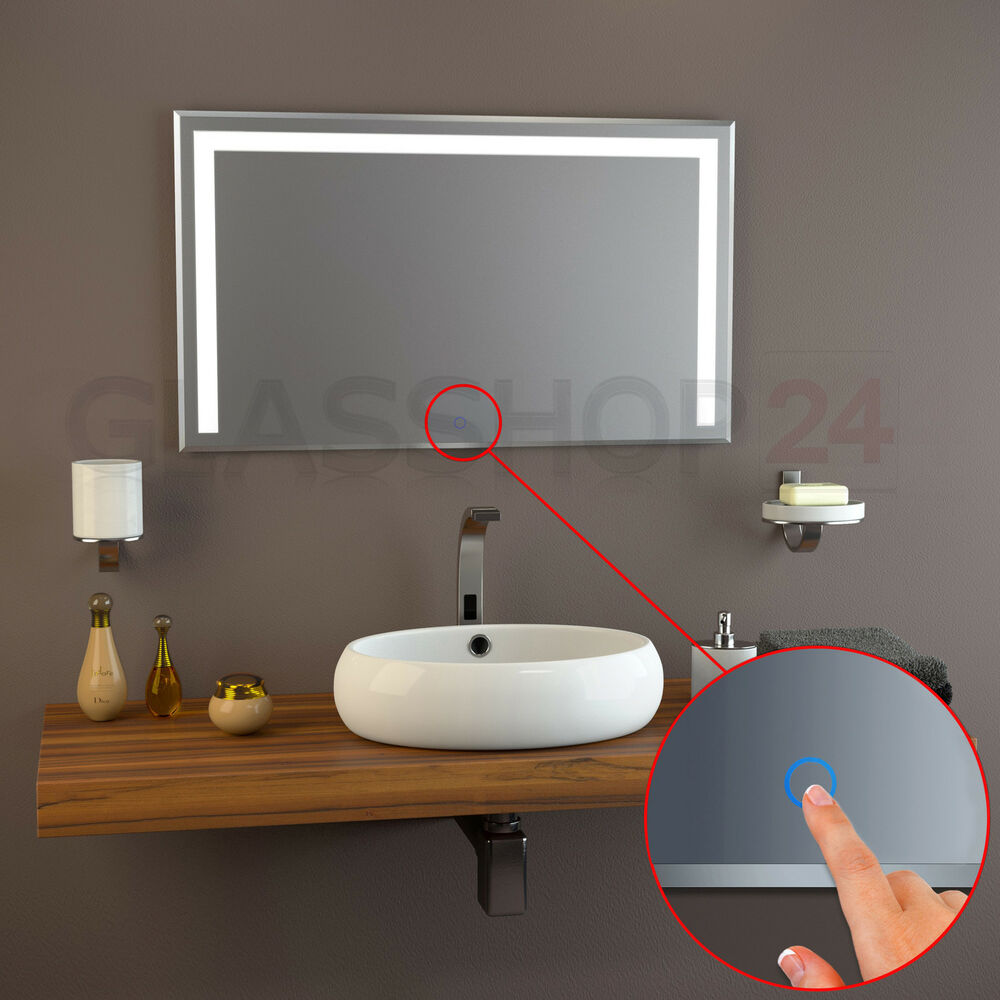 led kristal spiegel badspiegel sensor wandspiegel lichtspiegel badezimmerspiegel ebay. Black Bedroom Furniture Sets. Home Design Ideas