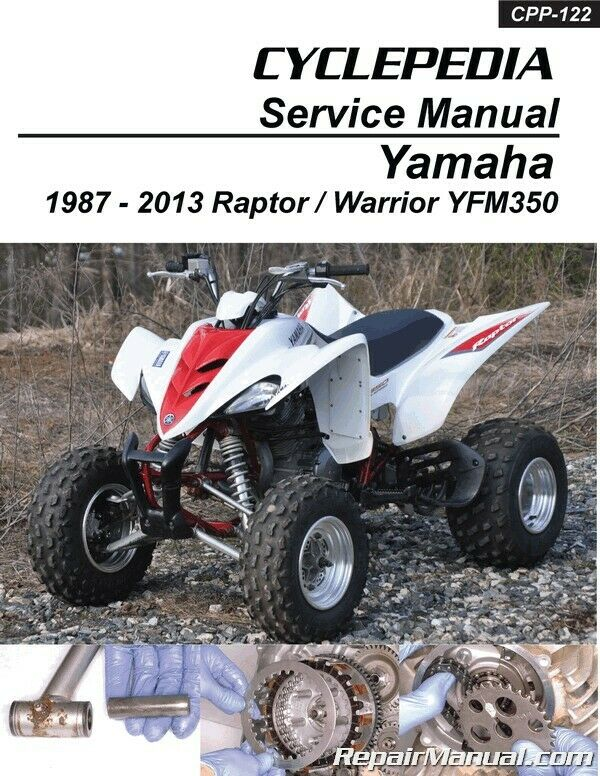 s l1000 yamaha yfm350 raptor warrior cyclepedia printed atv repair manual Yamaha YFM350 Wolverine at suagrazia.org