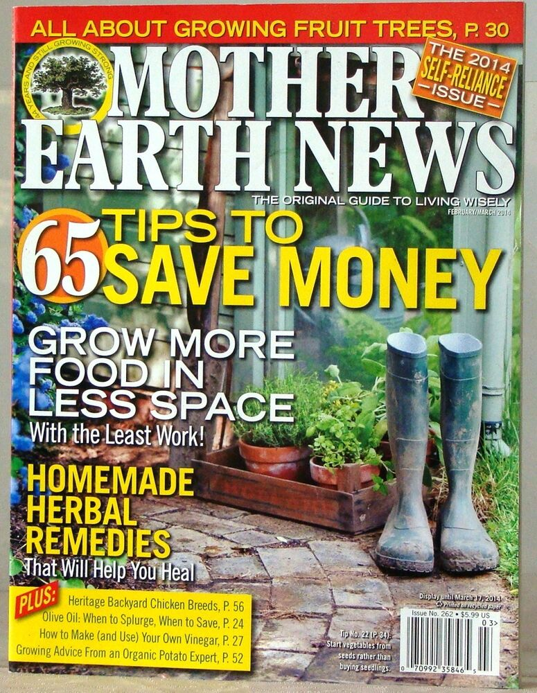 Mother earth news magazine 65 tips to save money homemade for Homemade products to save money