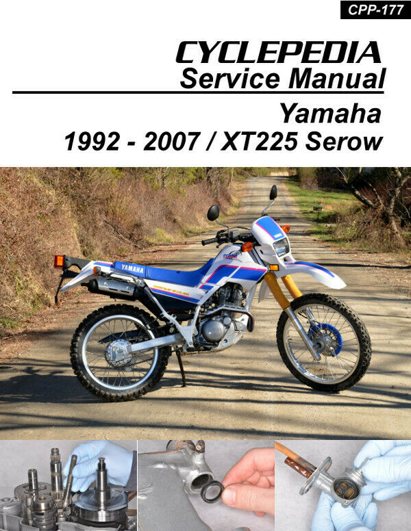 yamaha xt225 serow cyclepedia motorcycle service manual in. Black Bedroom Furniture Sets. Home Design Ideas