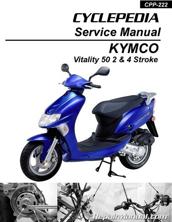 kymco vitality 50 2 4t scooter service manual printed by. Black Bedroom Furniture Sets. Home Design Ideas