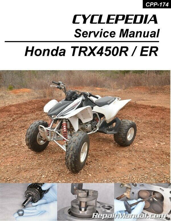 honda trx450r er sportrax atv printed service manual by