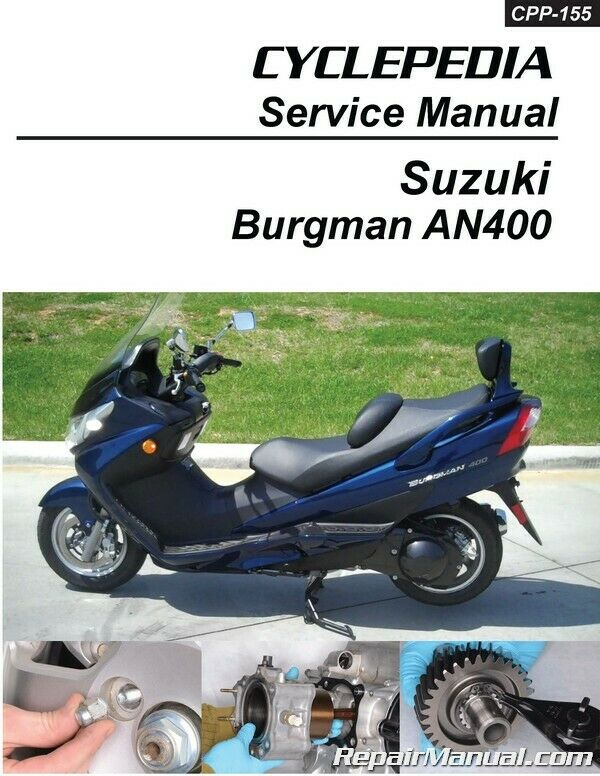 suzuki an400 burgman scooter cyclepedia printed service manual ebay rh ebay com HP Owner Manuals Maintenance Manual