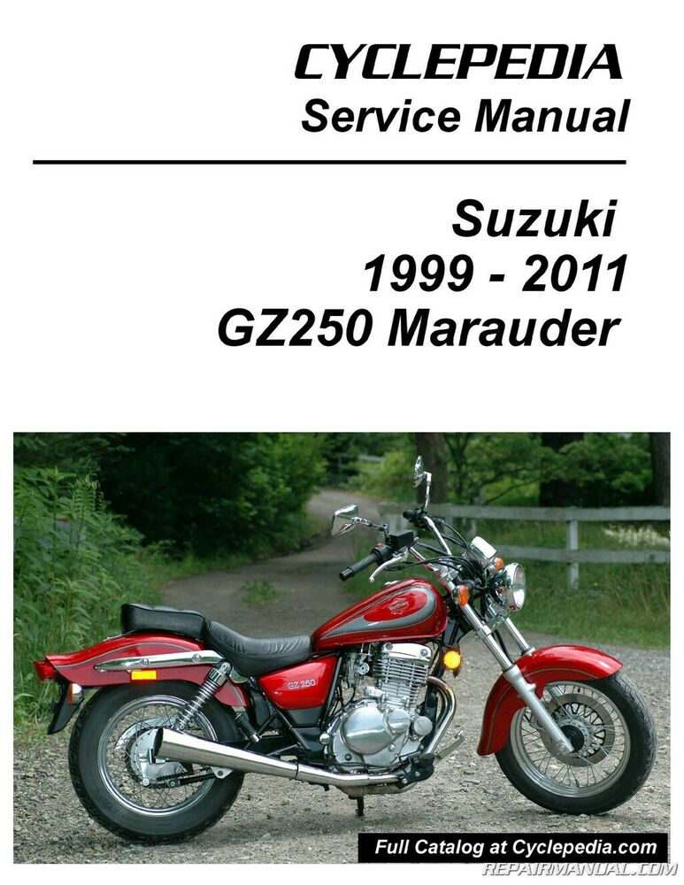 s l1000 suzuki gz250 marauder cyclepedia printed service manual ebay Suzuki GZ250 Bobber at mifinder.co