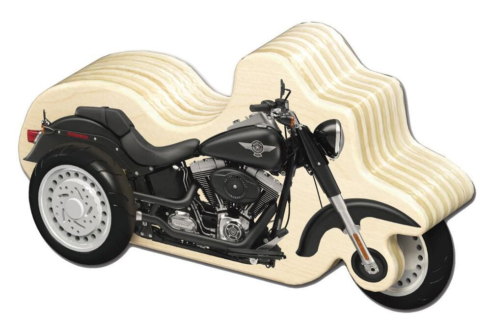 Motorcycle Toys For Boys : Harley davidson wooden zip motorcycle boys gift kids