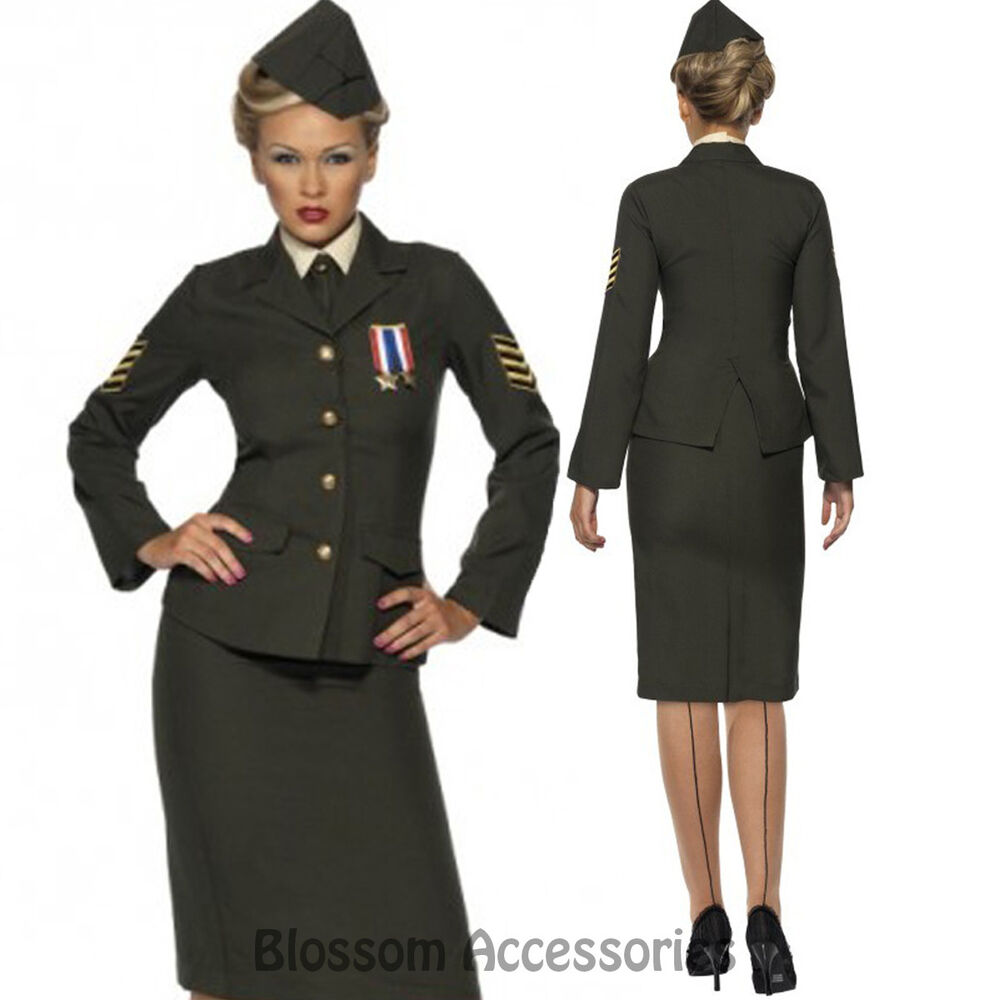 Beautiful Navy Officer Costume 1940s Sailor Uniform Womens Ladies Fancy Dress