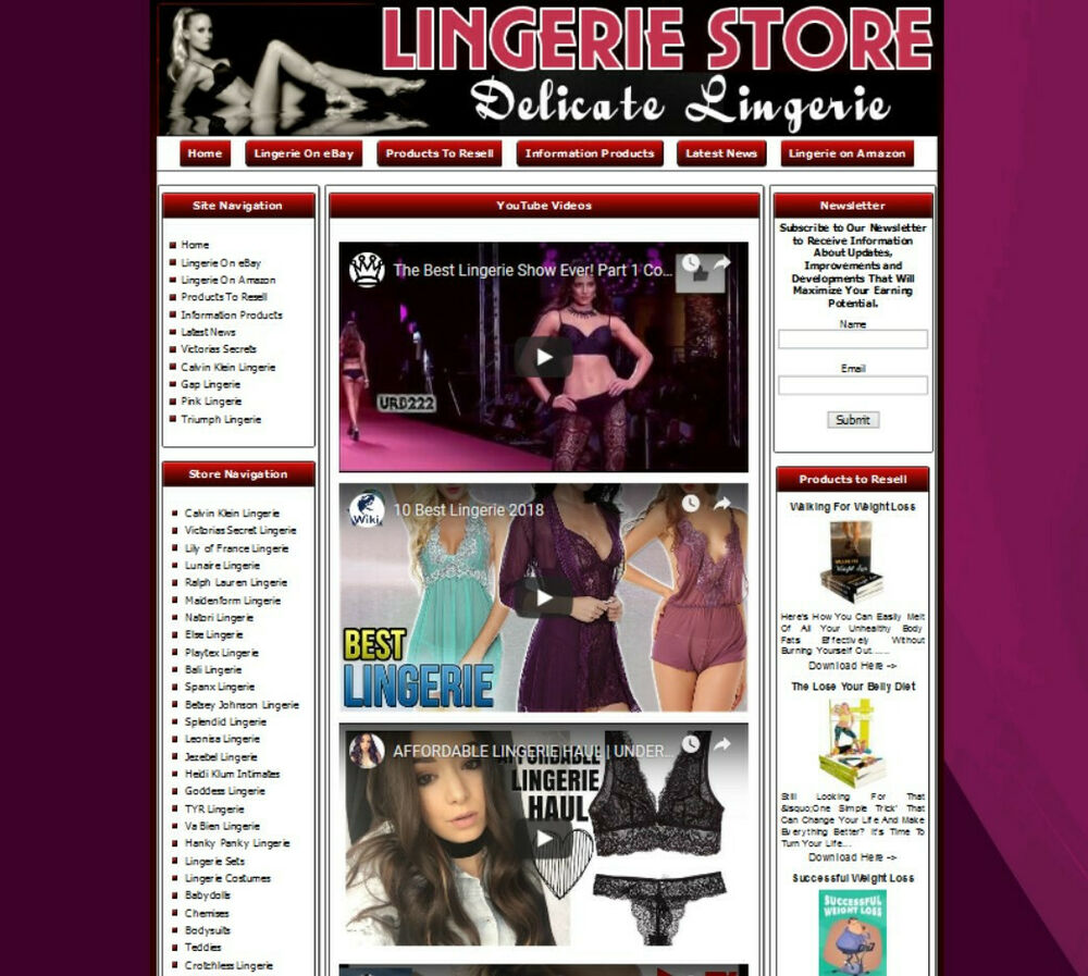 Adult Lingerie Ecommerce Website Business For Sale  Ebay-2966