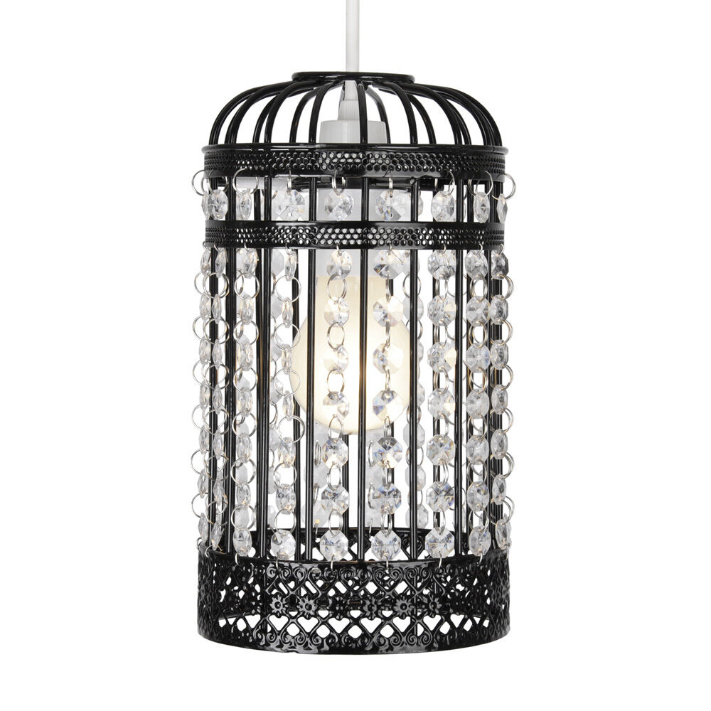 modern black ornate birdcage style ceiling light pendant. Black Bedroom Furniture Sets. Home Design Ideas