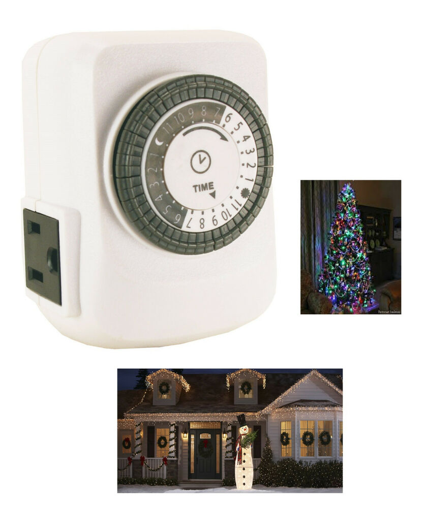 Christmas Tree Light Lite Timer 24 Hour Mechanical With