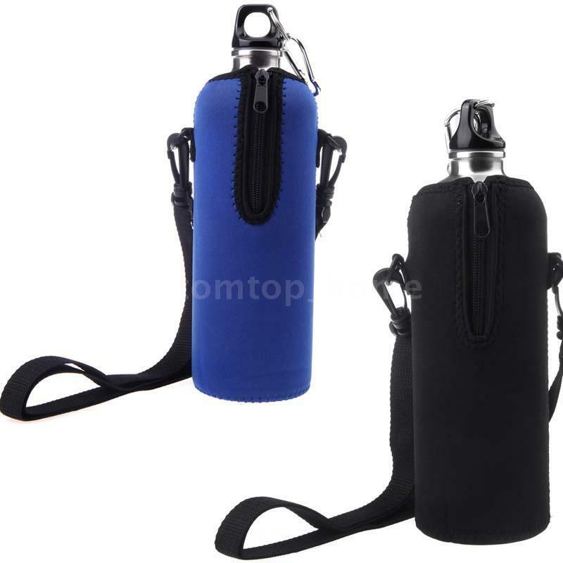 Water Bottle Strap: Camping Water Bottle Carrier Insulated Cover Case Bag