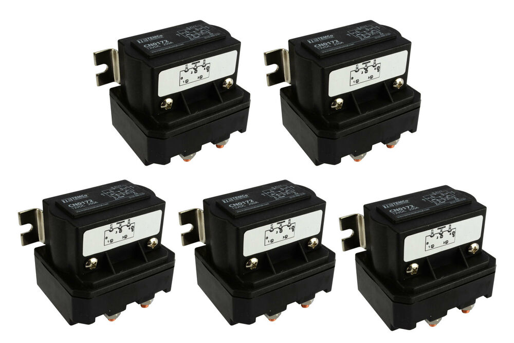 5x temco 250a dc winch motor reversing solenoid relay. Black Bedroom Furniture Sets. Home Design Ideas