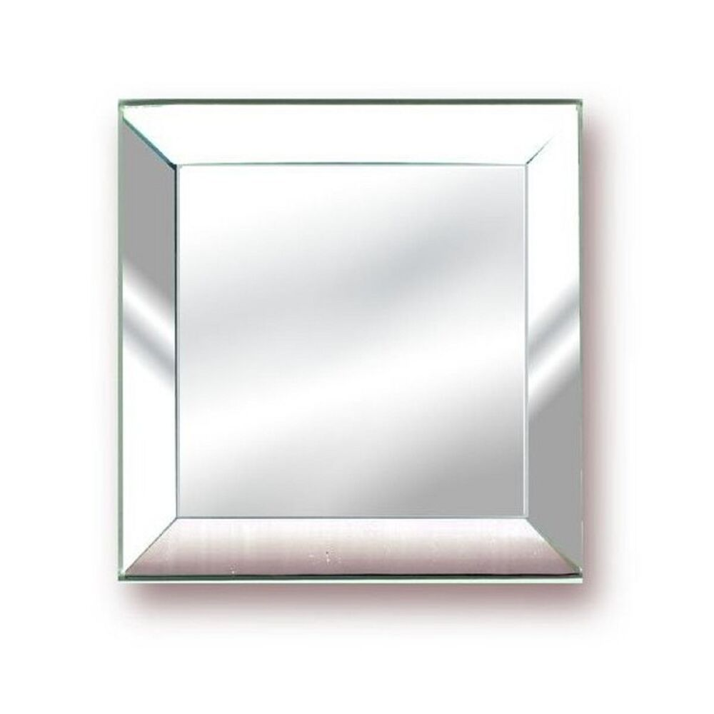 Stained glass 3x3 mirror bevels 6 pack ebay for Beveled glass mirror