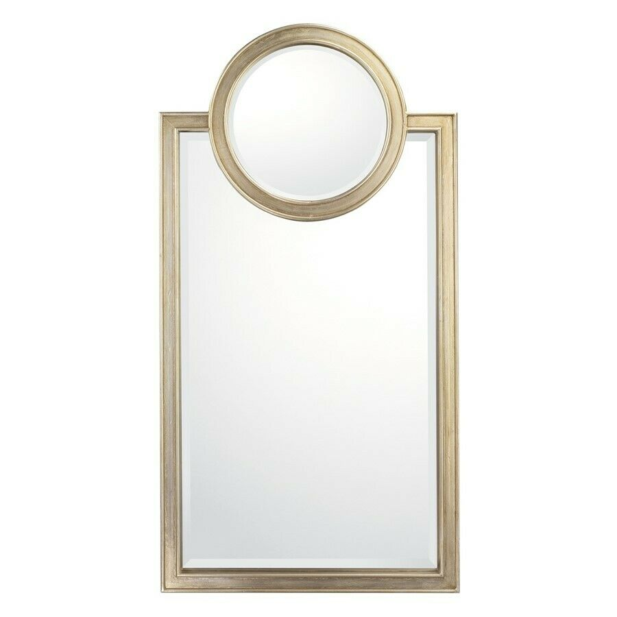 Capital lighting mirror decorative mirror brushed silver for Decorative mirrors for less