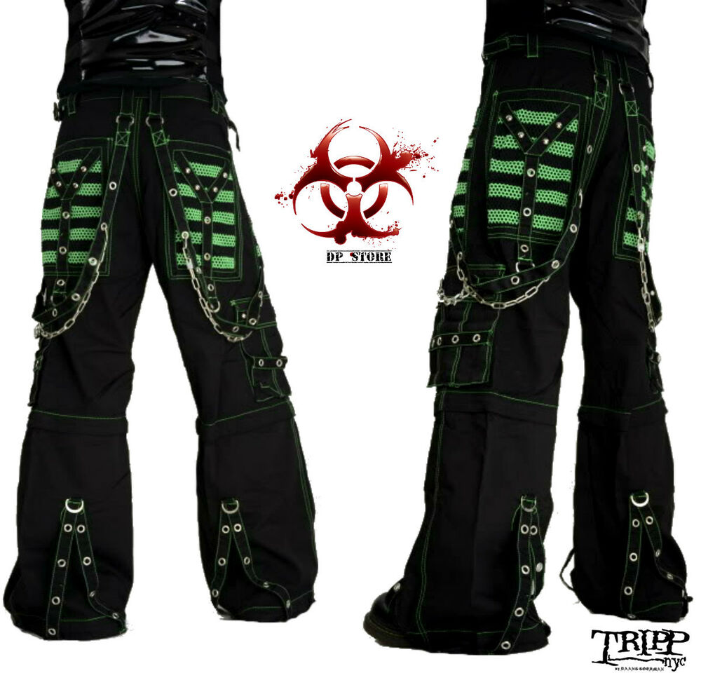 Unique New Sexy Visual Kei PUNK Gothic Rock Removalbe Pants Size S To XXL