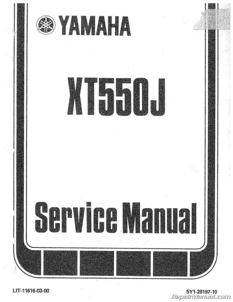 1982 yamaha xt550 motorcycle service repair maintenance for Yamaha ysp 5600 manual