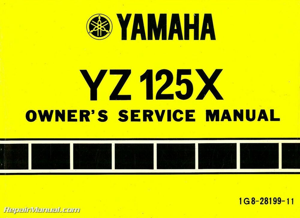 1976 yamaha yz125x motorcycle owners service manual ebay. Black Bedroom Furniture Sets. Home Design Ideas