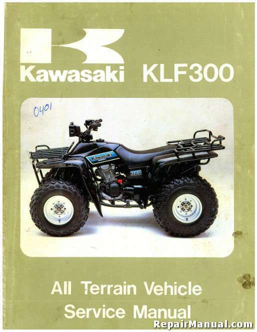 1986 1987 kawasaki klf300 bayou atv service manual ebay. Black Bedroom Furniture Sets. Home Design Ideas